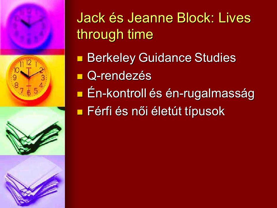 Jack és Jeanne Block: Lives through time