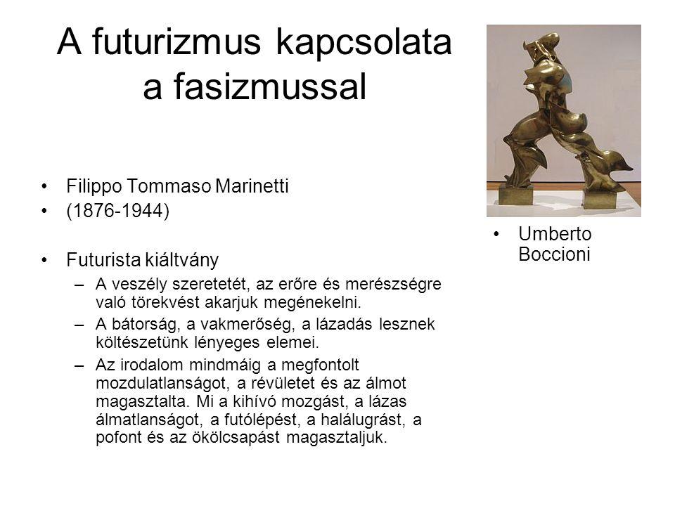 A futurizmus kapcsolata a fasizmussal