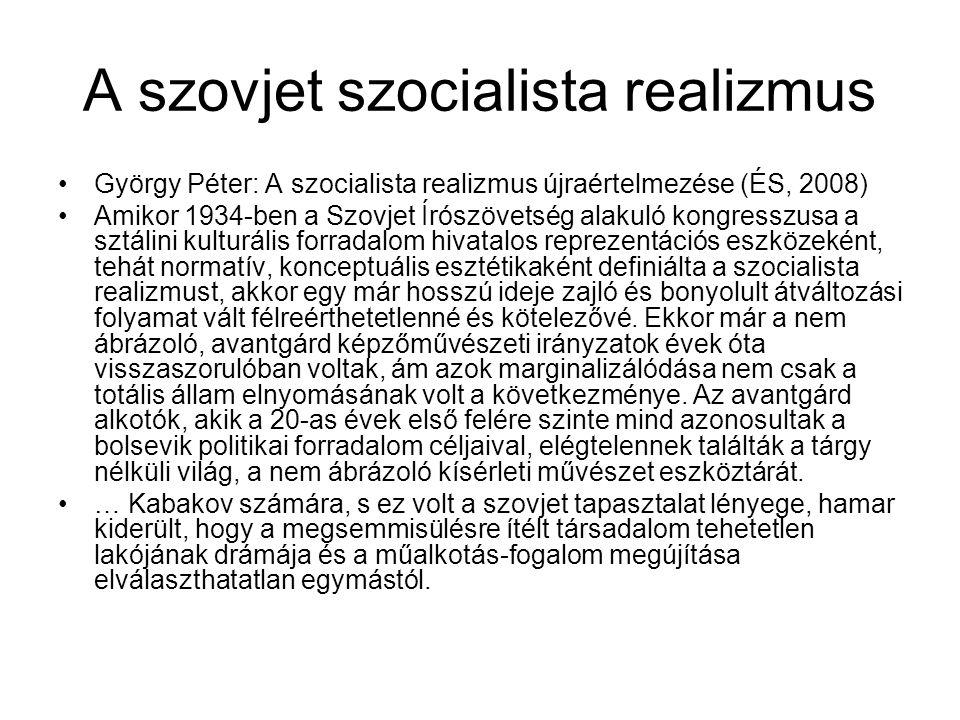 A szovjet szocialista realizmus
