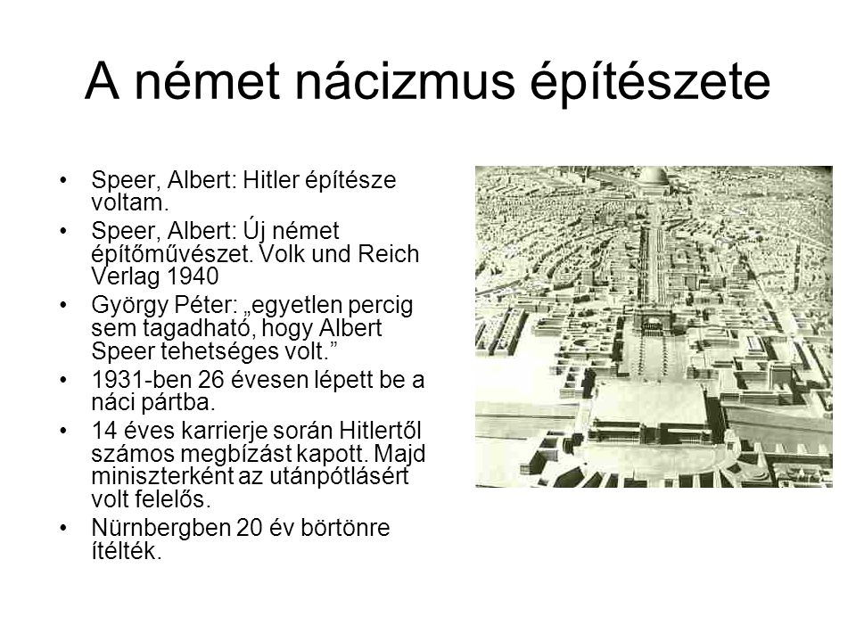 A német nácizmus építészete