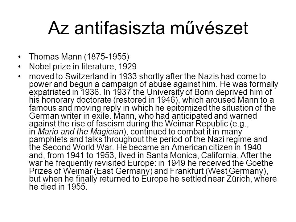 Az antifasiszta művészet