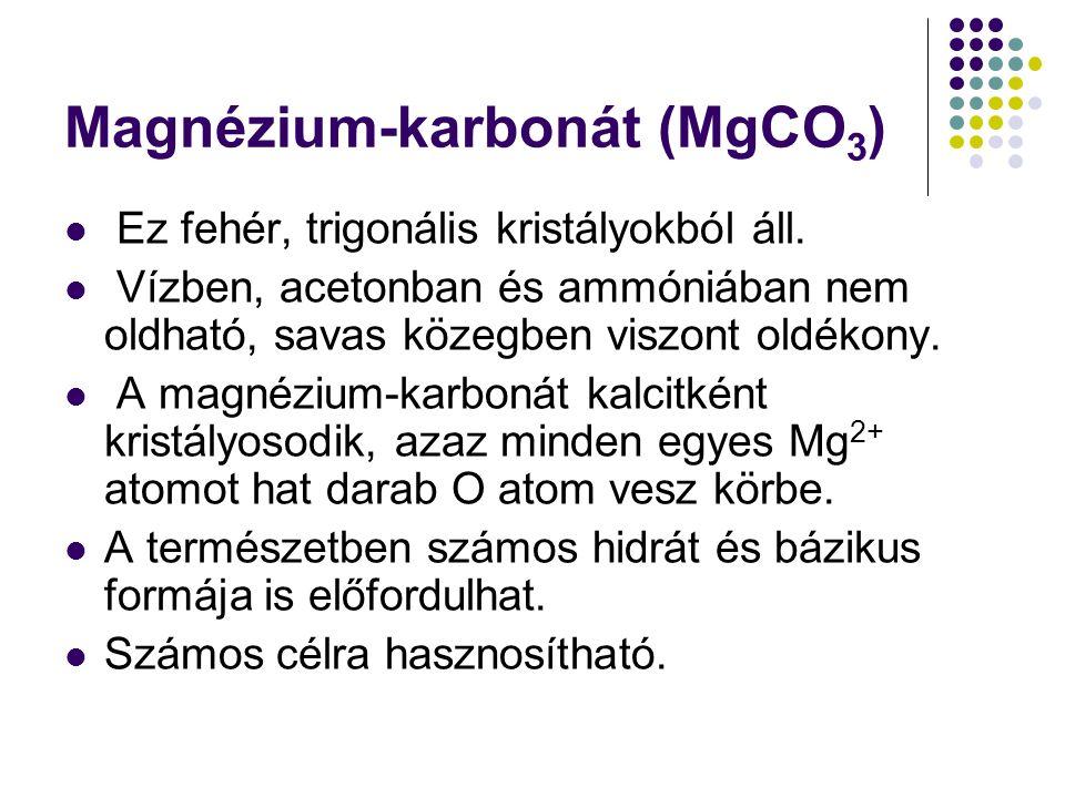Magnézium-karbonát (MgCO3)