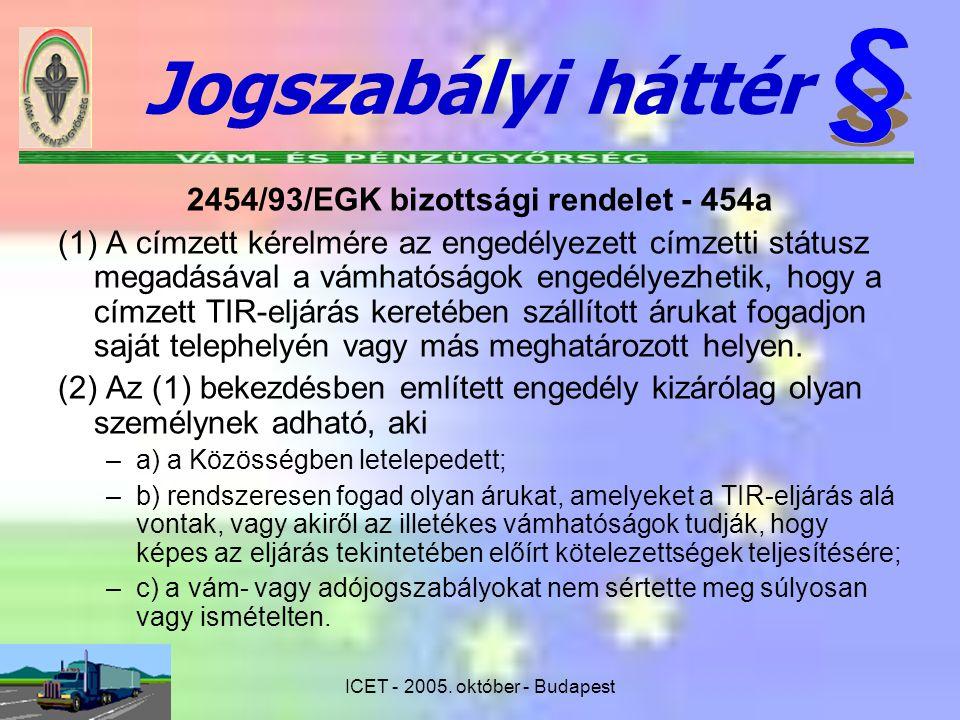 2454/93/EGK bizottsági rendelet - 454a