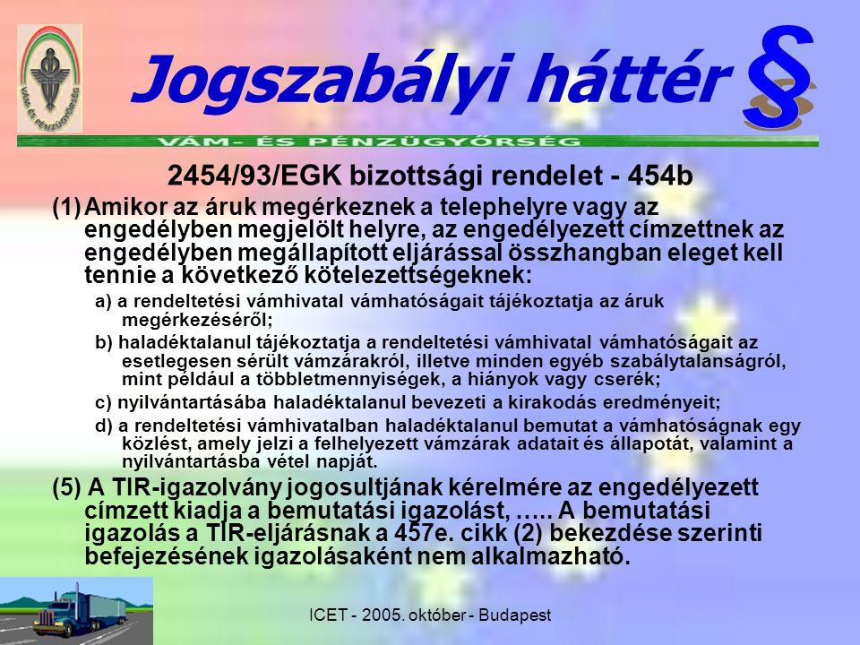 2454/93/EGK bizottsági rendelet - 454b