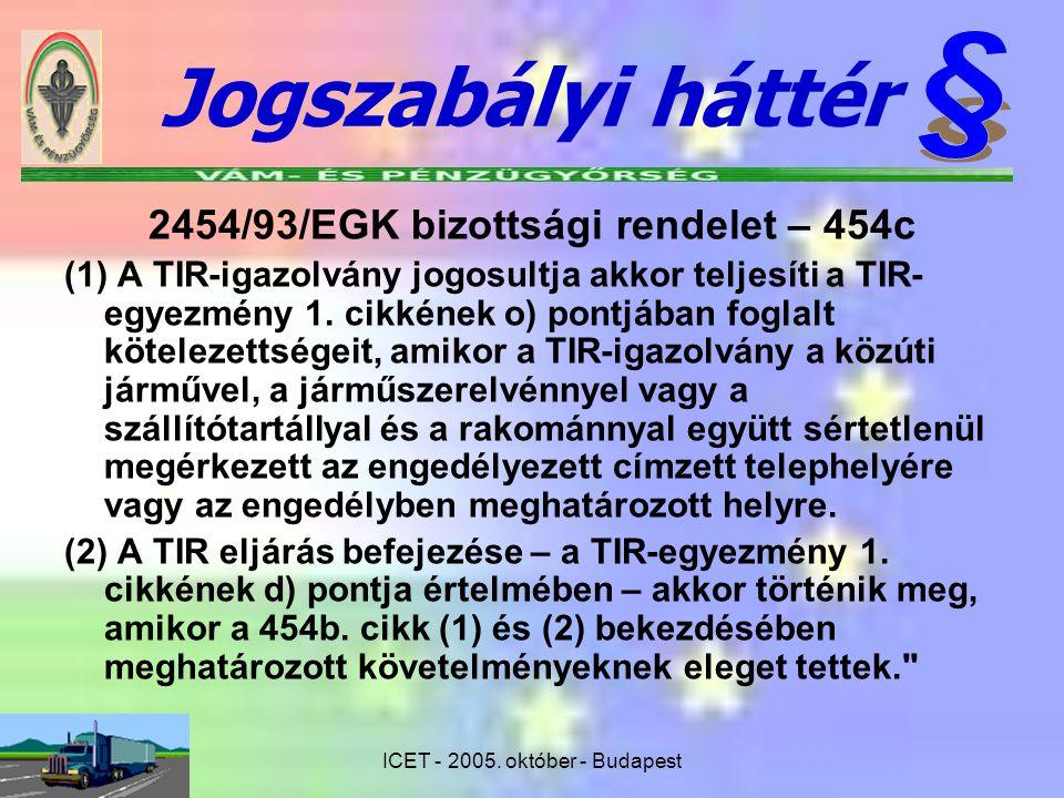 2454/93/EGK bizottsági rendelet – 454c