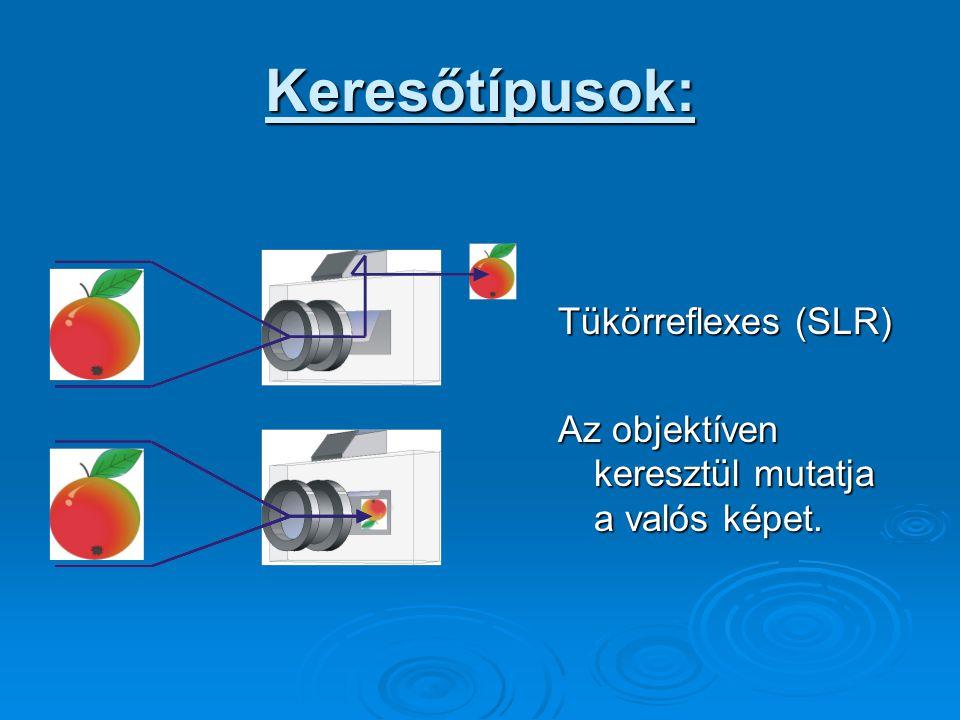 Keresőtípusok: Tükörreflexes (SLR)