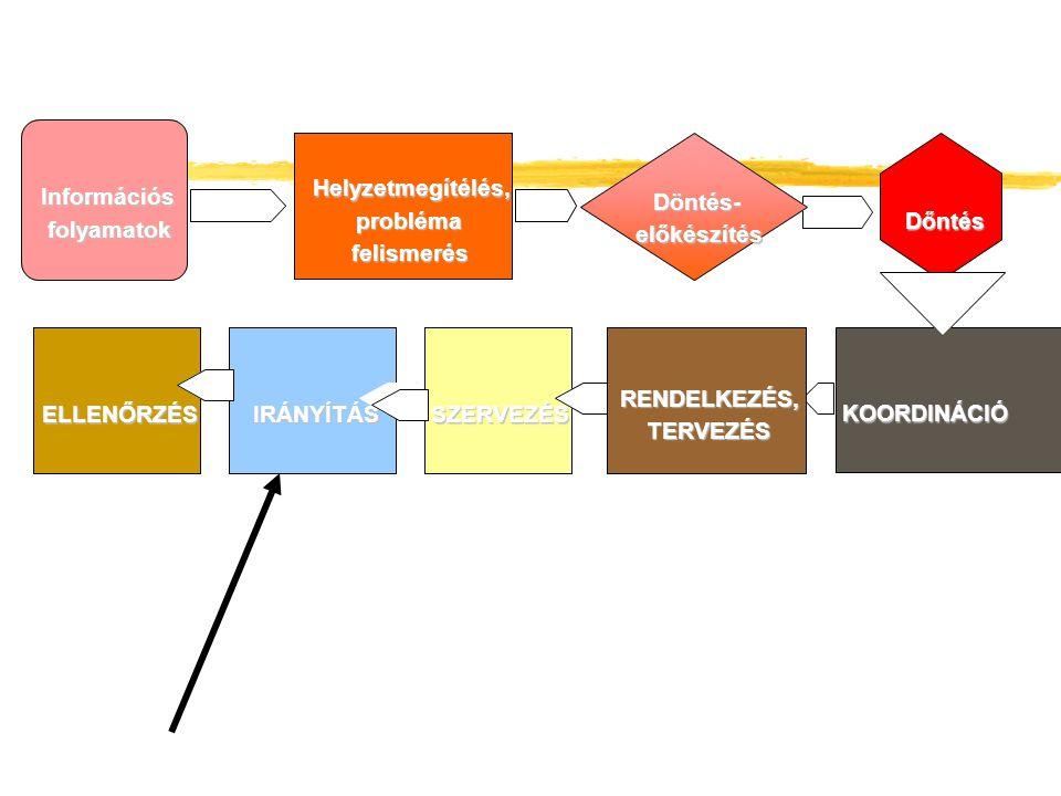 Információs folyamatok. Helyzetmegítélés, Helyzetmegítélés, Döntés- Döntés- probléma. probléma.