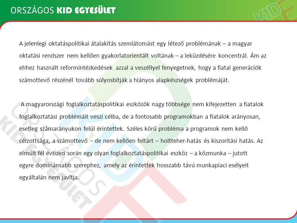 A jelenlegi oktatáspolitikai átalakítás szemlátomást egy létező problémának – a magyar