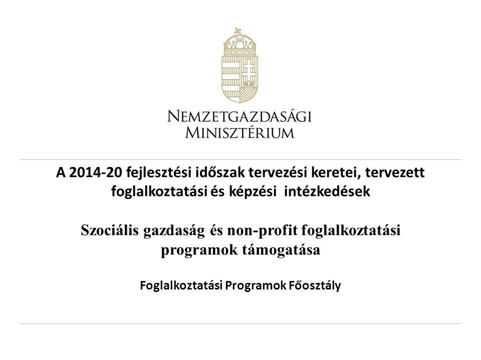 Foglalkoztatási Programok Főosztály