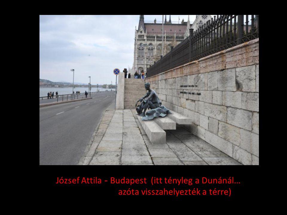 József Attila - Budapest (itt tényleg a Dunánál…