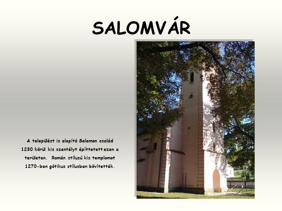 SALOMVÁR A települést is alapító Salamon család