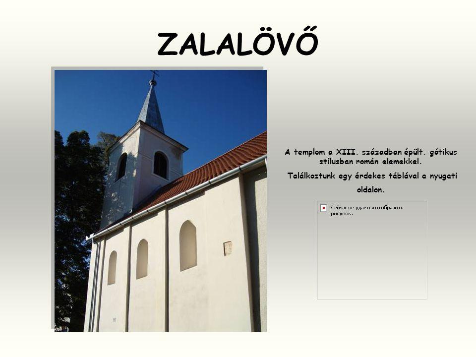A templom a XIII. században épült. gótikus stílusban román elemekkel.