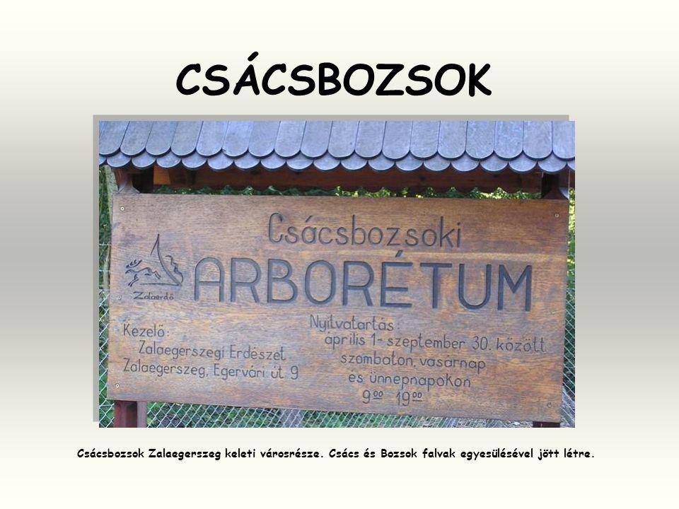 CSÁCSBOZSOK Csácsbozsok Zalaegerszeg keleti városrésze.