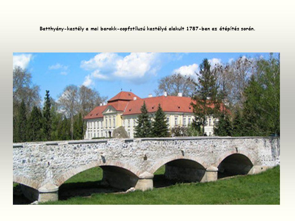 Batthyány-kastély a mai barokk-copfstílusú kastélyá alakult 1787-ben az átépítés során.