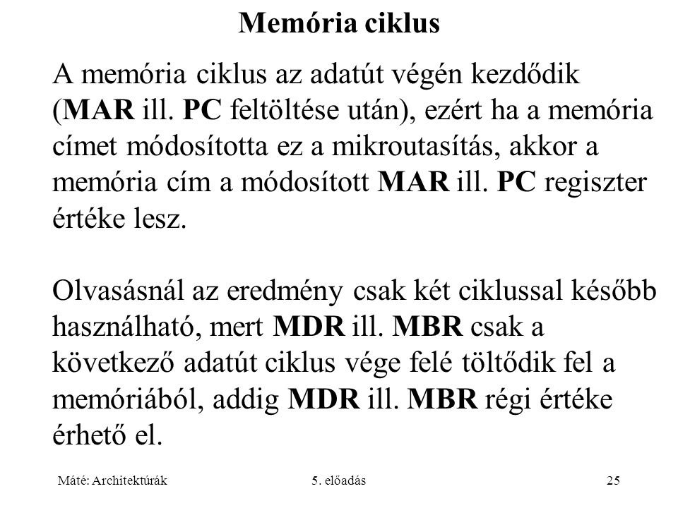 Memória ciklus