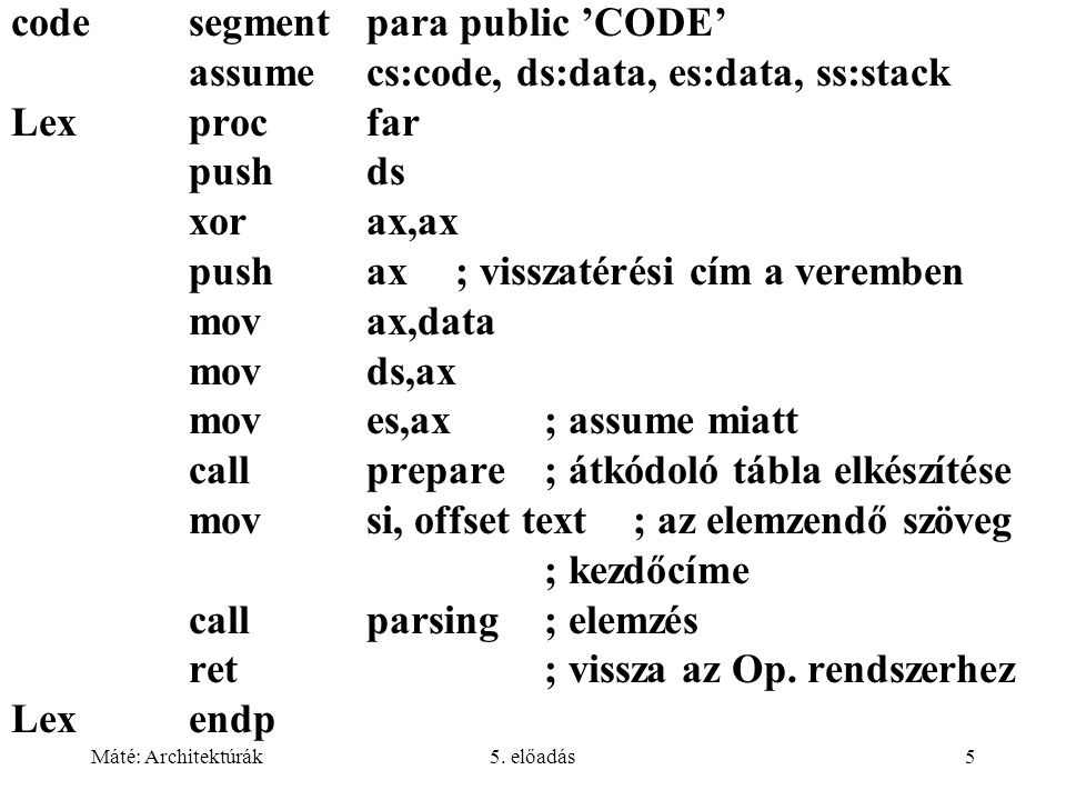 code segment para public 'CODE'