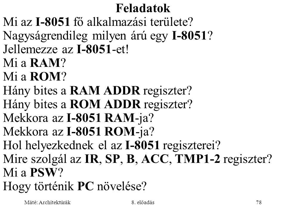 Mi az I-8051 fő alkalmazási területe