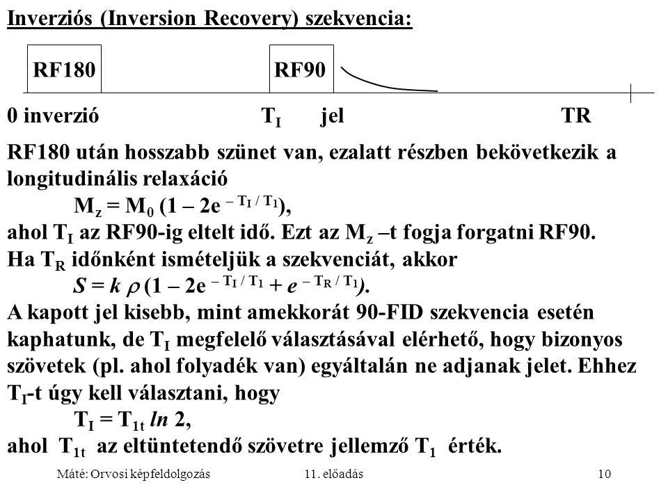 Inverziós (Inversion Recovery) szekvencia: