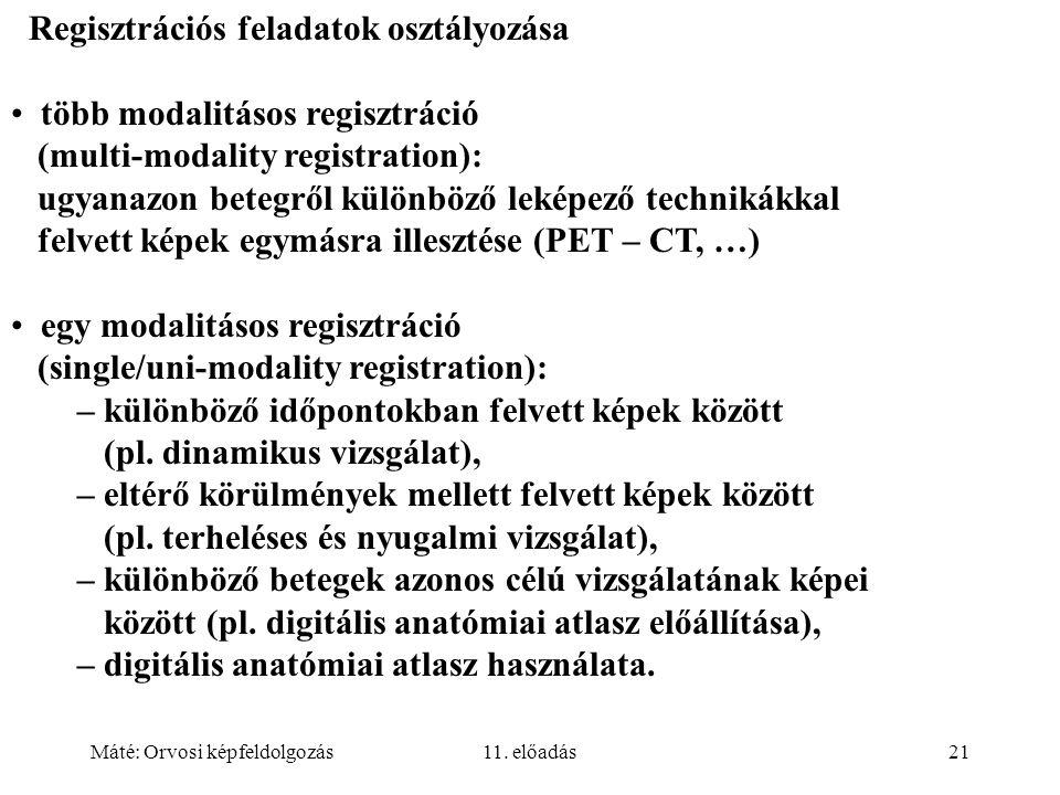 Regisztrációs feladatok osztályozása