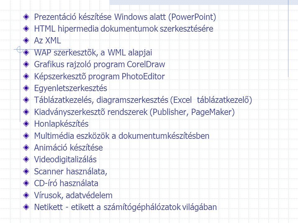 Prezentáció készítése Windows alatt (PowerPoint)