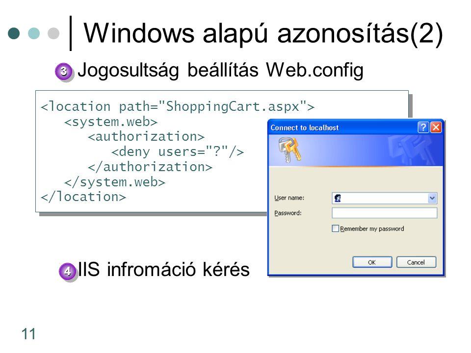 Windows alapú azonosítás(2)