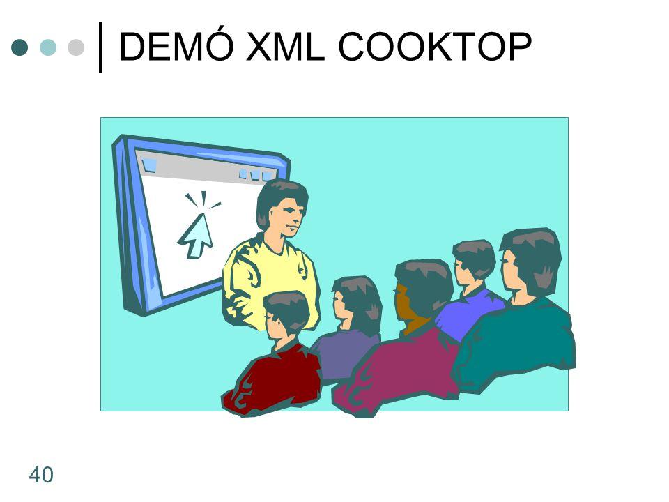 DEMÓ XML COOKTOP