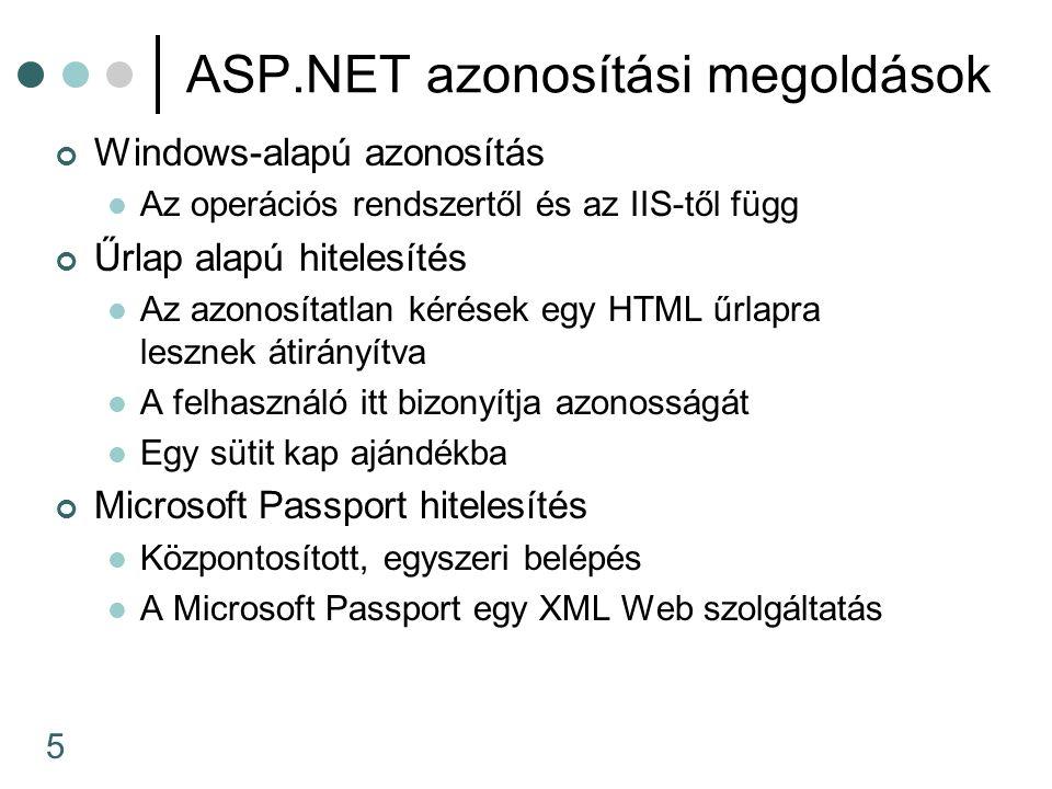 ASP.NET azonosítási megoldások