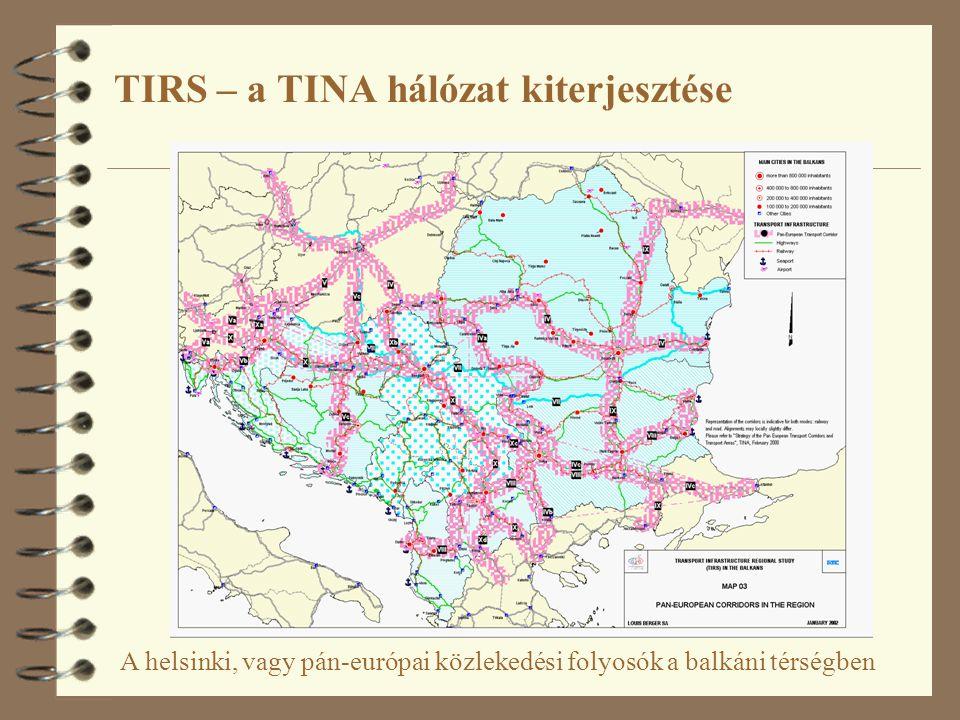 TIRS – a TINA hálózat kiterjesztése