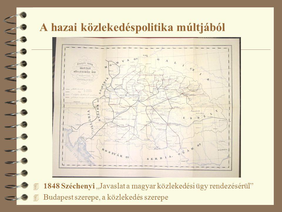 A hazai közlekedéspolitika múltjából