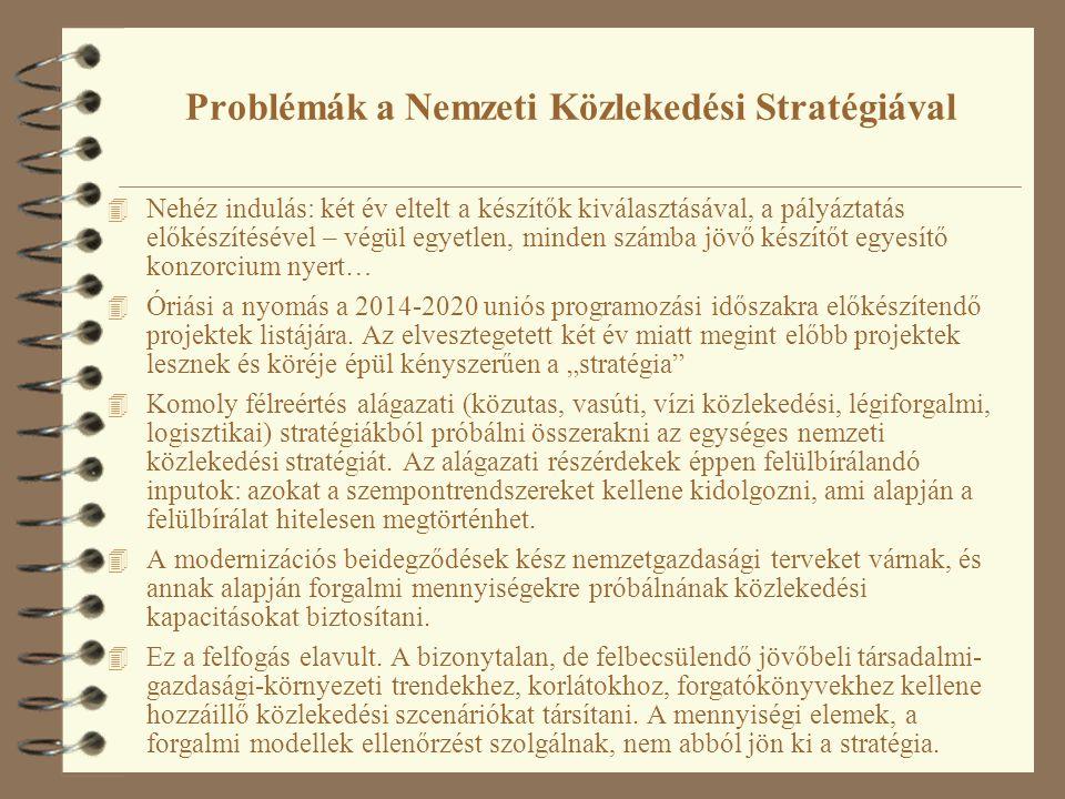 Problémák a Nemzeti Közlekedési Stratégiával