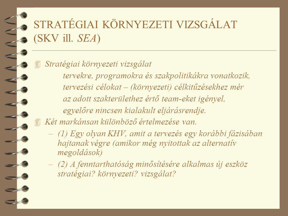 STRATÉGIAI KÖRNYEZETI VIZSGÁLAT (SKV ill. SEA)