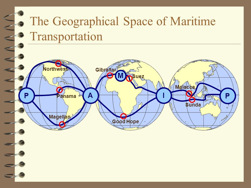 The Geographical Space of Maritime Transportation