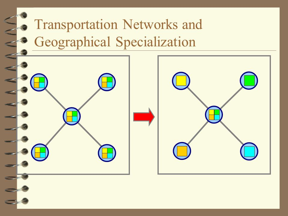 Transportation Networks and Geographical Specialization