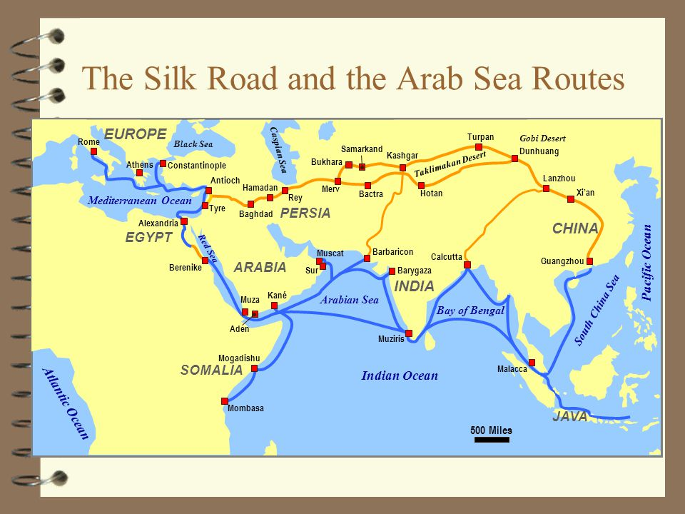 The Silk Road and the Arab Sea Routes