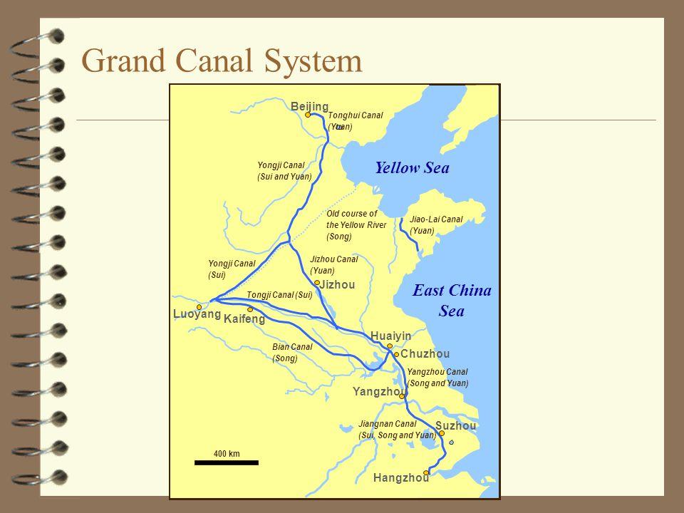 Grand Canal System Yellow Sea East China Sea Beijing Jizhou Luoyang