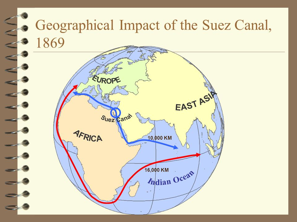 Geographical Impact of the Suez Canal, 1869