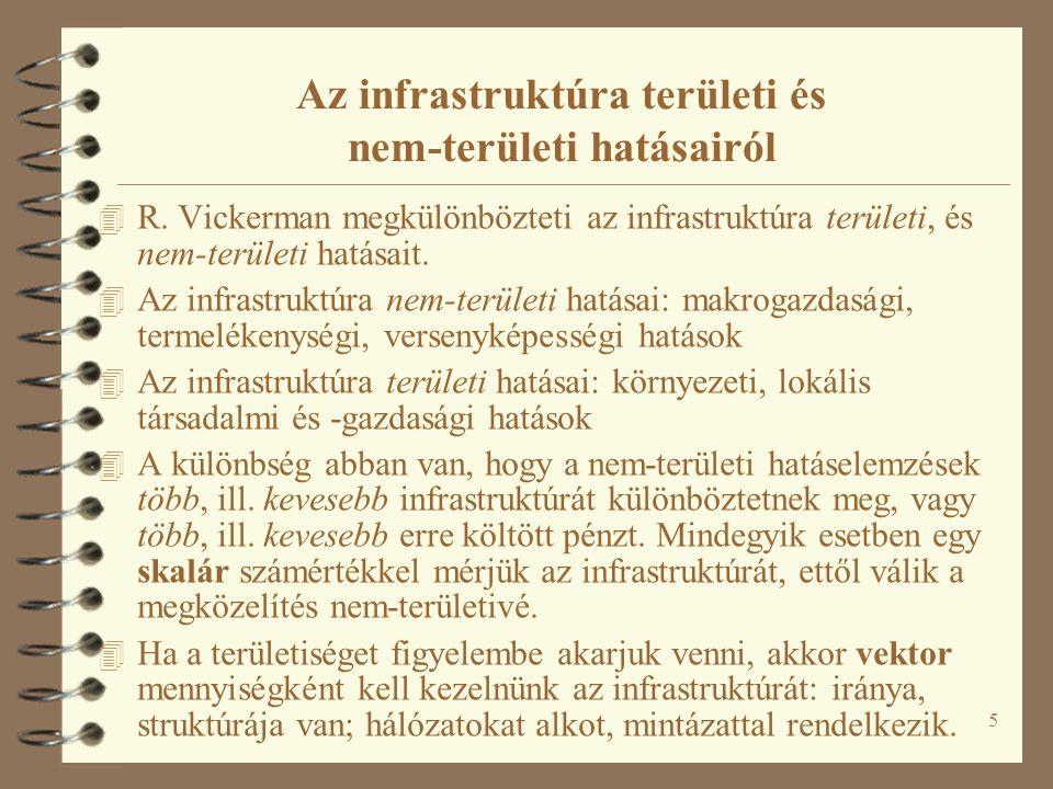 Az infrastruktúra területi és nem-területi hatásairól