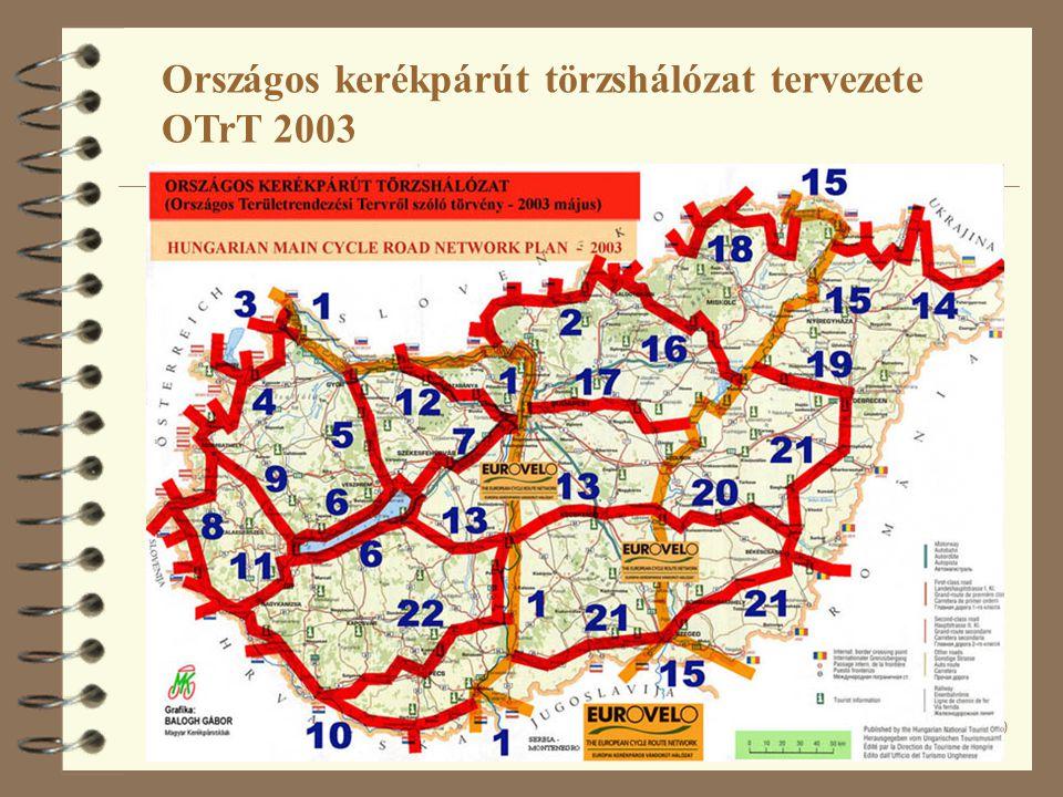 Országos kerékpárút törzshálózat tervezete OTrT 2003