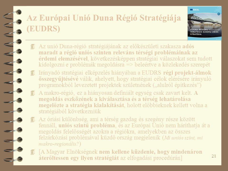 Az Európai Unió Duna Régió Stratégiája (EUDRS)
