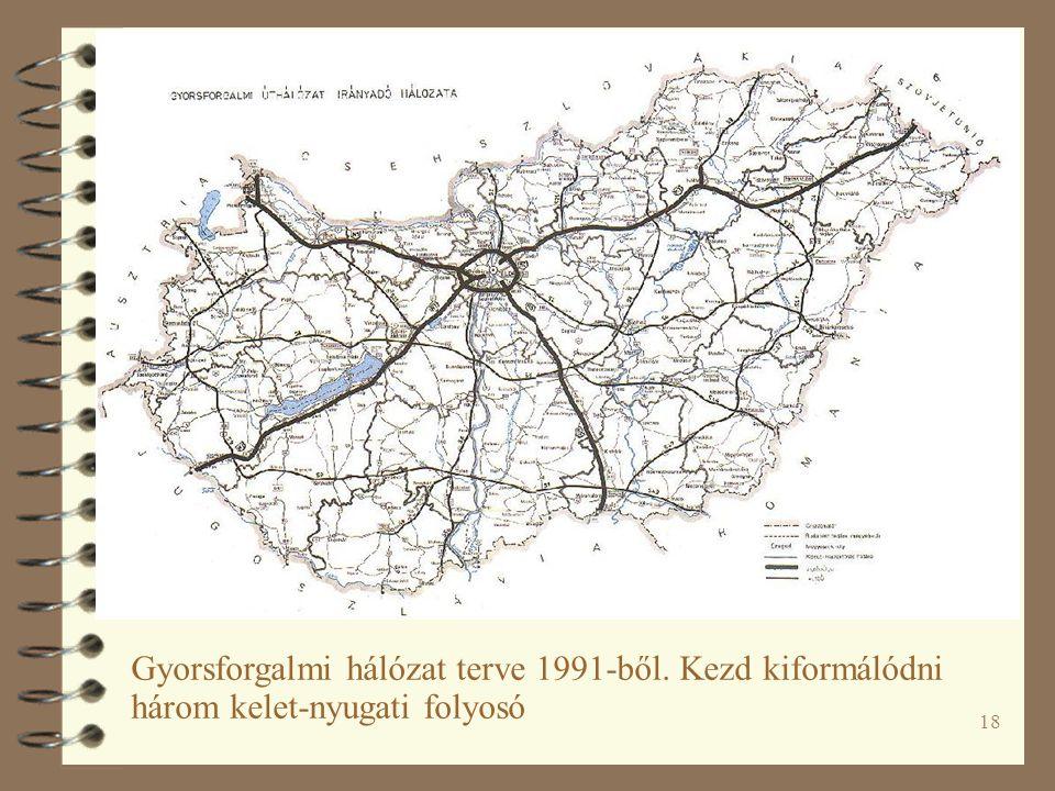 Gyorsforgalmi hálózat terve 1991-ből