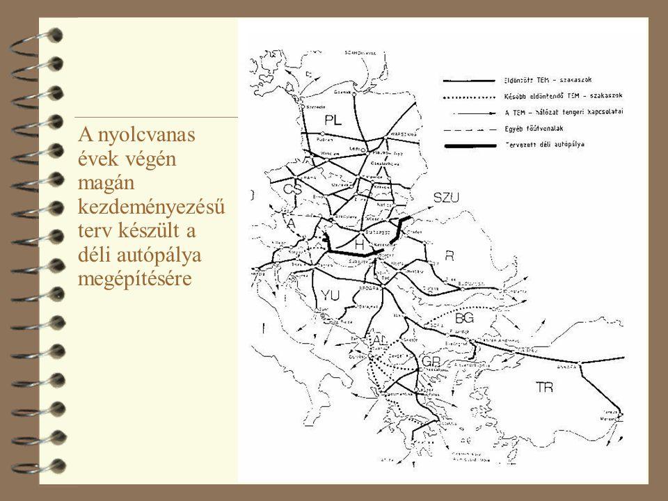 A nyolcvanas évek végén magán kezdeményezésű terv készült a déli autópálya megépítésére