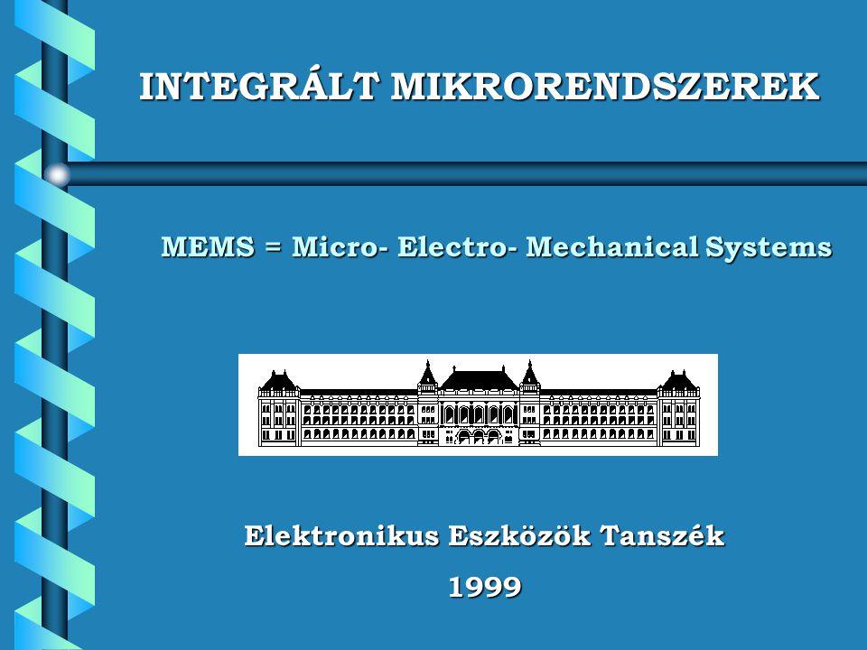 Elektronikus Eszközök Tanszék