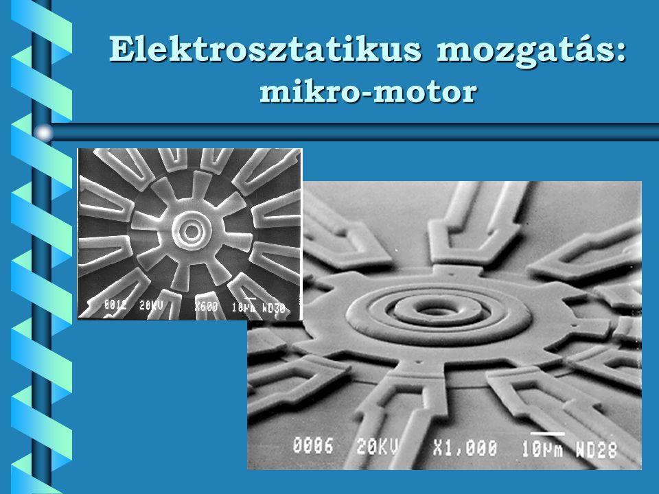 Elektrosztatikus mozgatás: mikro-motor