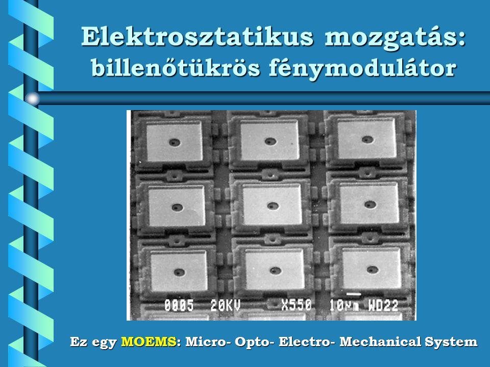 Elektrosztatikus mozgatás: billenőtükrös fénymodulátor