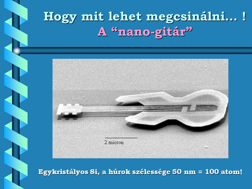 Hogy mit lehet megcsinálni… ! A nano-gitár