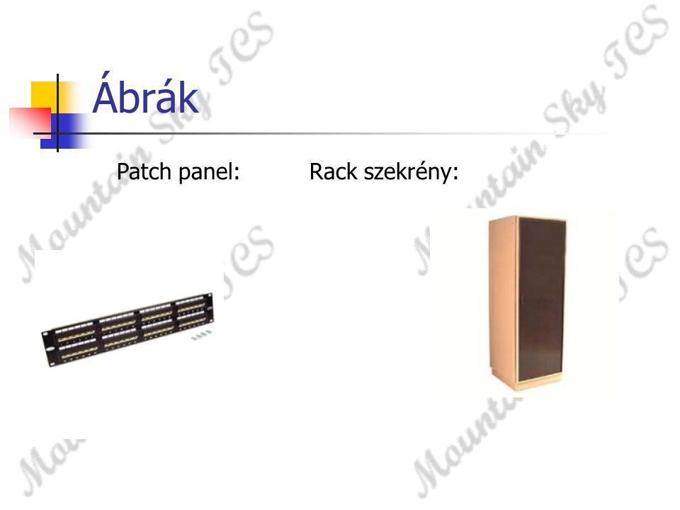 Ábrák Patch panel: Rack szekrény: