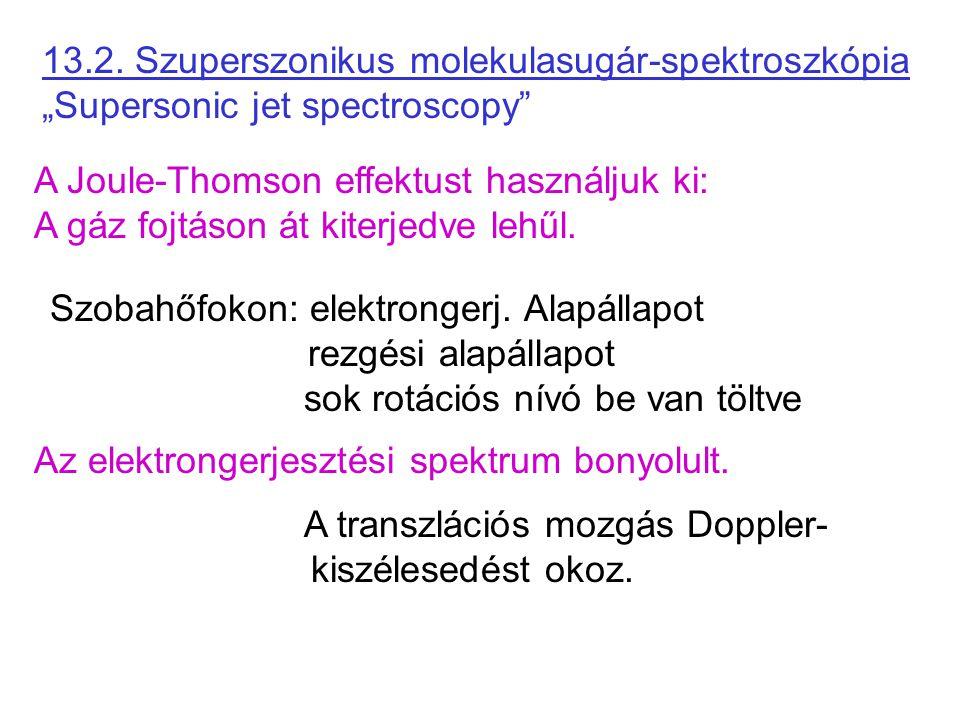 """13.2. Szuperszonikus molekulasugár-spektroszkópia """"Supersonic jet spectroscopy"""