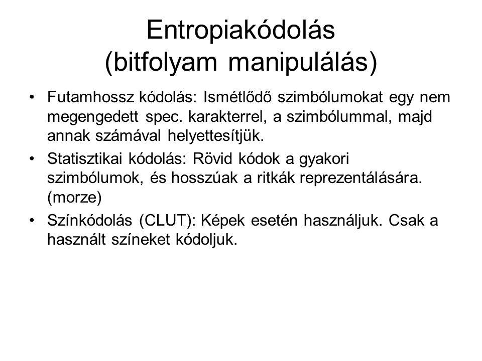 Entropiakódolás (bitfolyam manipulálás)