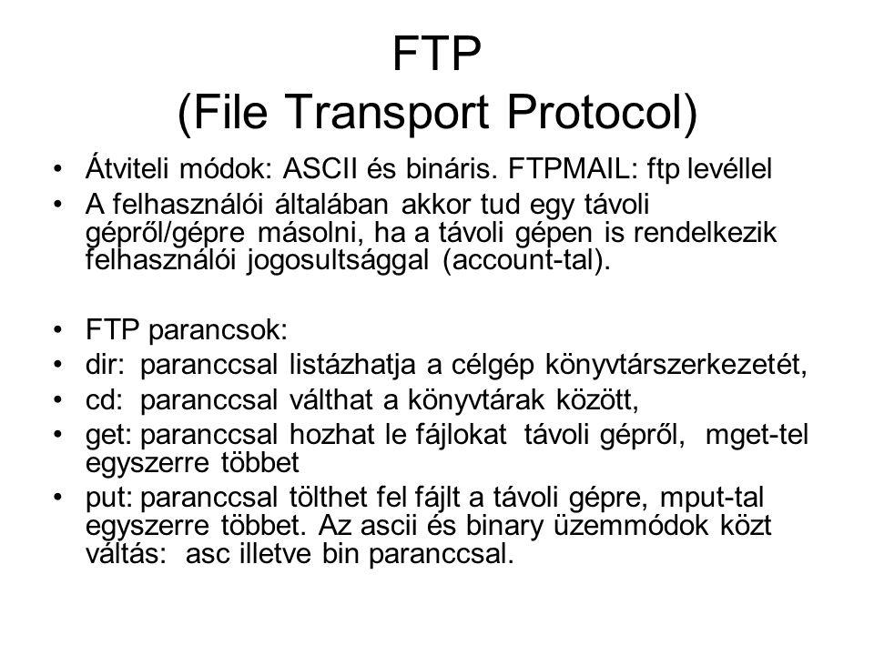 FTP (File Transport Protocol)
