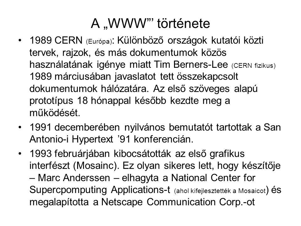 "A ""WWW ' története"